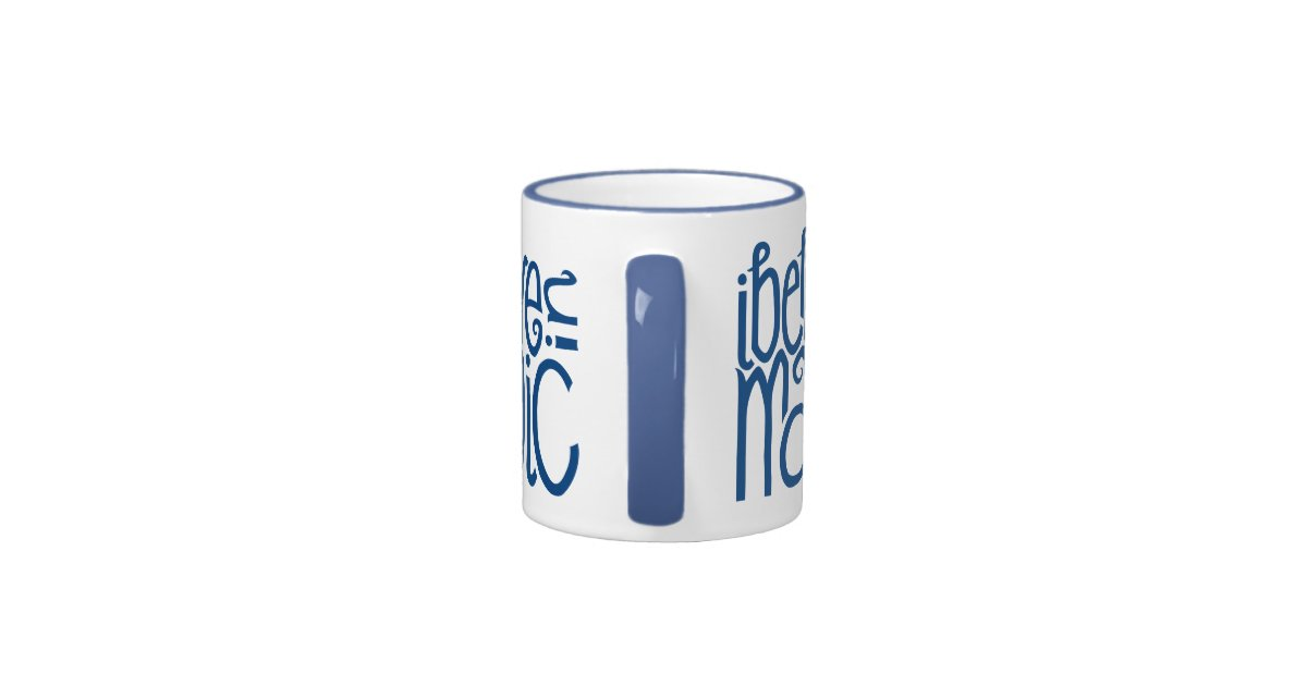 i believe in magic blue mug zazzle. Black Bedroom Furniture Sets. Home Design Ideas