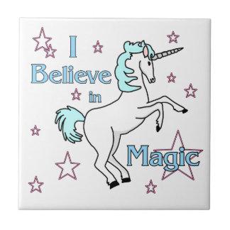 I Believe In Magic Unicorn Tile