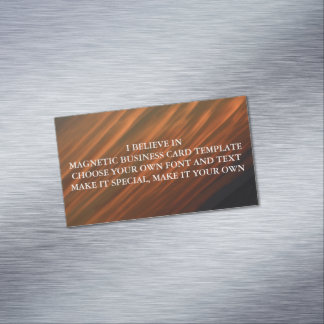I BELIEVE IN MAGNETIC BUSINESS CARD TEMPLATE