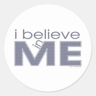 I believe in Me Classic Round Sticker