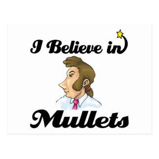 i believe in mullets postcard