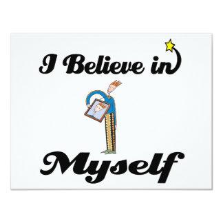 i believe in myself custom invitation