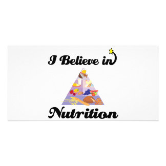 i believe in nutrition photo card template