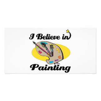 i believe in painting photo card template