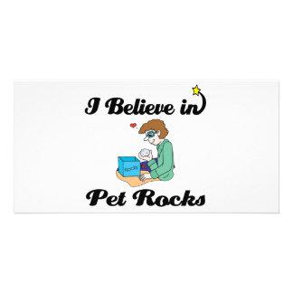 i believe in pet rocks picture card