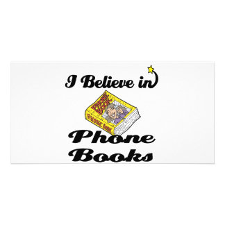 i believe in phone books photo greeting card