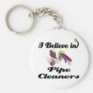i believe in pipe cleaners keychain