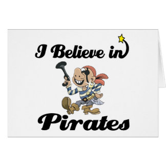 i believe in pirates card