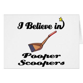 i believe in pooper scoopers card