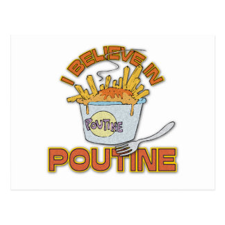 I Believe In Poutine Postcard