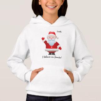 I believe in Santa. Christmas Kids Hoodie