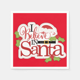 I Believe In Santa Paper Napkins