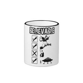 I believe in Santa Ringer Coffee Mug