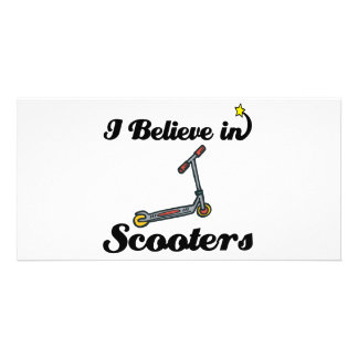i believe in scooters customized photo card