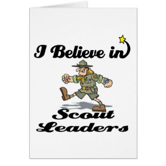 i believe in scout leaders card