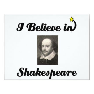 i believe in shakespeare card