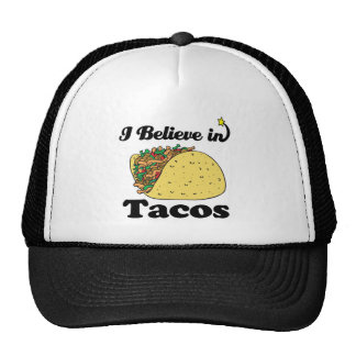 i believe in tacos trucker hats