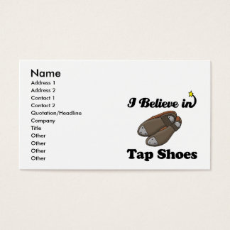 i believe in tap shoes business card