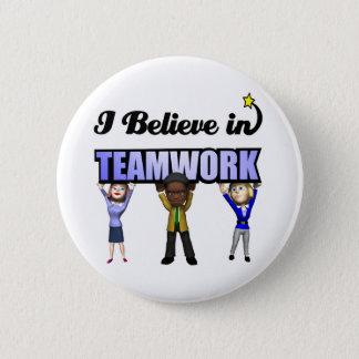 i believe in teamwork 2 inch round button