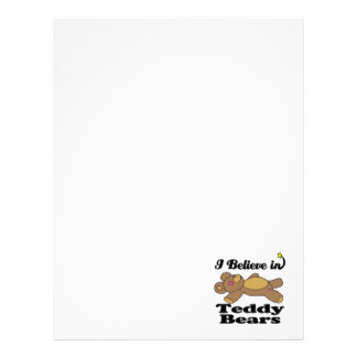 i believe in teddy bears letterhead