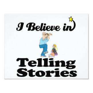 i believe in telling stories personalized announcement
