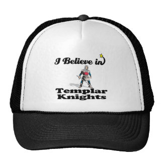 i believe in templar knights mesh hat