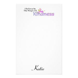 I Believe In The Magic Of Kindness Custom Stationery