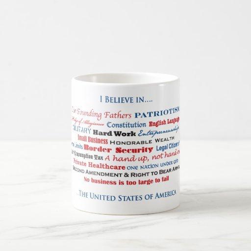 I believe in the United States Basic White Mug