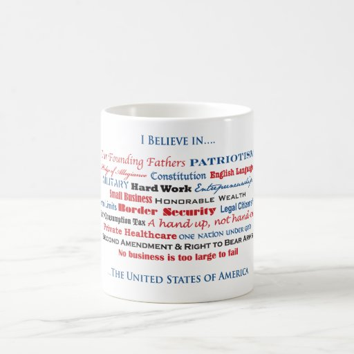 I believe in the United States Classic White Coffee Mug