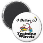 i believe in training wheels fridge magnet