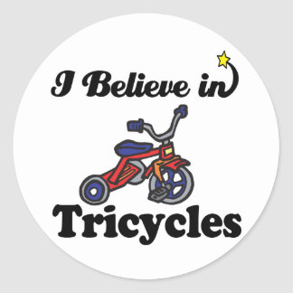 i believe in tricycles stickers