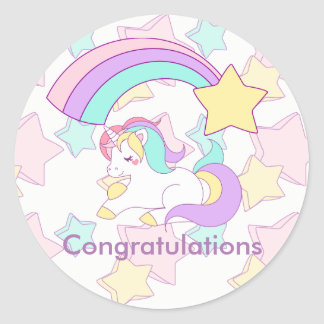 I believe in Unicorns Classic Round Sticker