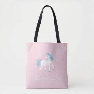 I believe in unicorns design tote bag