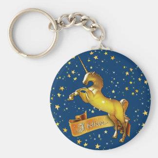 I believe in Unicorns Keychain