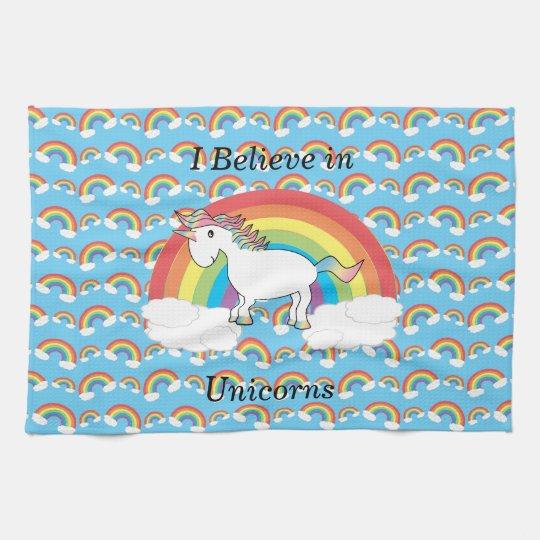 I believe in unicorns kitchen towel