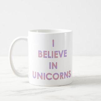 I Believe In Unicorns Pink and Purple Cotton Candy Coffee Mug