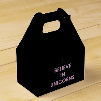 I Believe In Unicorns Pink and Purple Cotton Candy Favor Box
