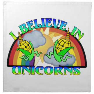 I Believe In Unicorns Printed Napkins
