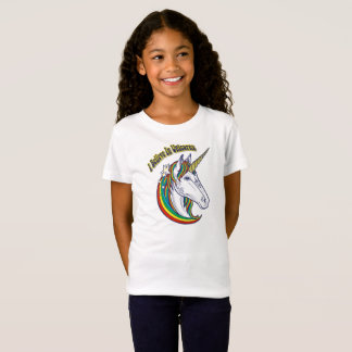 I Believe In Unicorns Rainbow Girl Graphic T-shirt