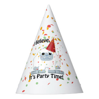 I Believe, It's Party Time!  Cute Yeti Party Hat