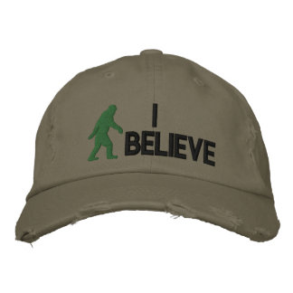 "I believe *large bigfoot logo"" embroidered hat"
