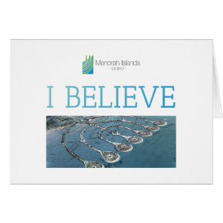 I BELIEVE - Menorah Islands Card