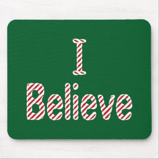 I Believe ~ Merry Christmas Santa Mouse Pad