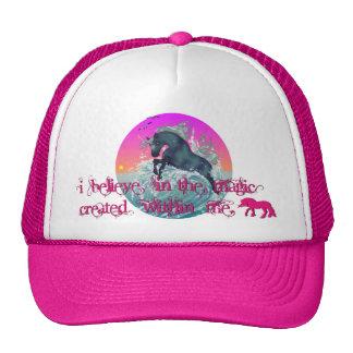 """""""I Believe"""" Ocean Unicorn Cap Trucker Hat"""