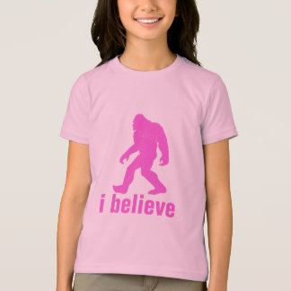 i believe - pink Silhouette (distrssed) T-Shirt