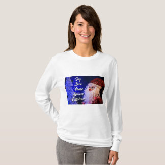 I Believe Santa  Holiday Christmas Women's Shirt