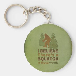 I believe there's a SQUATCH in these woods Keychain