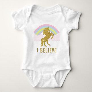 I Believe Unicorn Baby Romper