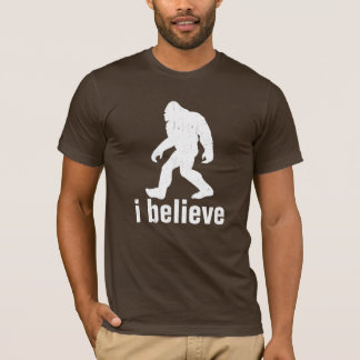 i believe - White Silhouette (distrssed) T-Shirt