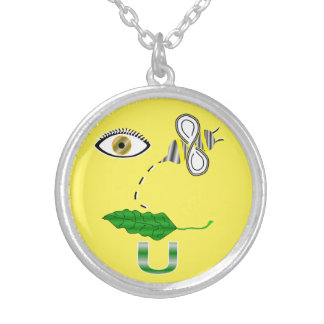 I Believe You Rebus Silver Plated Necklace